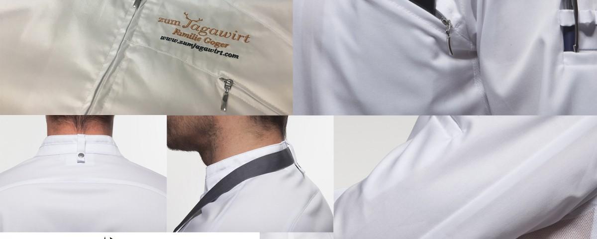 Arbeitskleidung von Styriatext mit Stickerei: Premium-Kochjacken