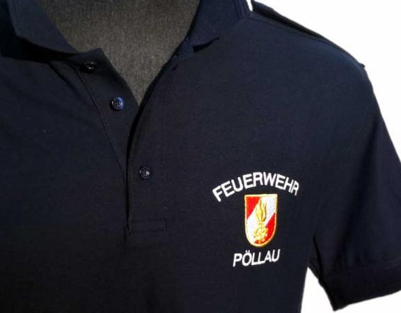 Bestickte Polohemden für die Feuerwehr Pöllau